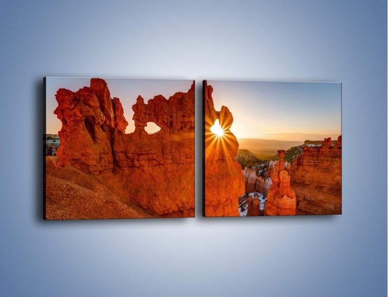 Obraz na płótnie – Przez słoneczne okulary – dwuczęściowy kwadratowy poziomy KN991
