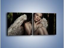 Obraz na płótnie – Anioł i jego tęsknota – dwuczęściowy kwadratowy poziomy L011