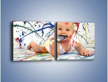 Obraz na płótnie – Chodź pomaluj mój świat – dwuczęściowy kwadratowy poziomy L059