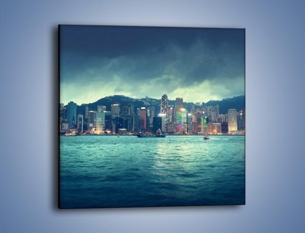 Obraz na płótnie – Linia nabrzeża Hong Kongu – jednoczęściowy kwadratowy AM708