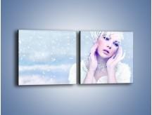 Obraz na płótnie – Delikatna królowa śniegu – dwuczęściowy kwadratowy poziomy L224