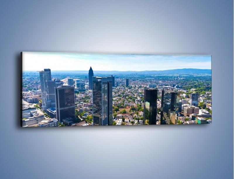 Obraz na płótnie – Panorama Frankfurtu – jednoczęściowy panoramiczny AM414