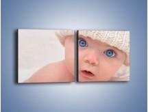 Obraz na płótnie – Błękitne oczy dzidziusia – dwuczęściowy kwadratowy poziomy L260