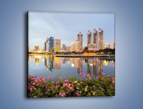 Obraz na płótnie – Panorama Bangkoku – jednoczęściowy kwadratowy AM710