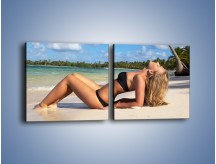Obraz na płótnie – Czas rajskich plaży – dwuczęściowy kwadratowy poziomy L316
