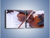 Obraz na płótnie – Melodia grana na skrzypcach – dwuczęściowy kwadratowy poziomy O003