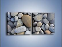 Obraz na płótnie – Kamienie duże i małe – dwuczęściowy kwadratowy poziomy O006