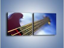 Obraz na płótnie – Gitara z bliska – dwuczęściowy kwadratowy poziomy O088