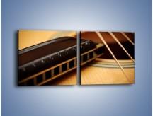 Obraz na płótnie – Instrumenty z drewna – dwuczęściowy kwadratowy poziomy O108