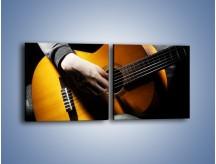 Obraz na płótnie – Chłopiec z gitarą – dwuczęściowy kwadratowy poziomy O109