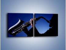 Obraz na płótnie – Koncert na saksofonie – dwuczęściowy kwadratowy poziomy O110