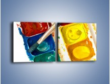 Obraz na płótnie – Kolorowy świat malowany farbami – dwuczęściowy kwadratowy poziomy O116