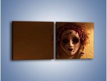 Obraz na płótnie – Maska ze znaczącymi szczegółami – dwuczęściowy kwadratowy poziomy O161