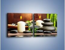 Obraz na płótnie – Masaż przy świecach – dwuczęściowy kwadratowy poziomy O176