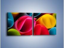Obraz na płótnie – Kolorowe rulony – dwuczęściowy kwadratowy poziomy O217