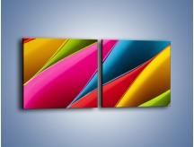 Obraz na płótnie – Idealna kolorowa kompozycja – dwuczęściowy kwadratowy poziomy O219
