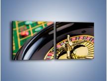 Obraz na płótnie – Czas drogocenny w kasynie – dwuczęściowy kwadratowy poziomy O238