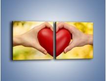 Obraz na płótnie – Miłość dwojga ludzi – dwuczęściowy kwadratowy poziomy O240