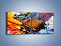 Obraz na płótnie – Kolory ze sobą zmieszane – dwuczęściowy kwadratowy poziomy O251