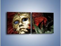 Obraz na płótnie – Maska pełna tajemnicy – dwuczęściowy kwadratowy poziomy O252