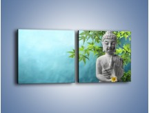 Obraz na płótnie – Idealny świat harmonii i spokoju – dwuczęściowy kwadratowy poziomy O258