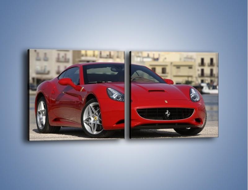 Obraz na płótnie – Czerwone Ferrari California – dwuczęściowy kwadratowy poziomy TM057