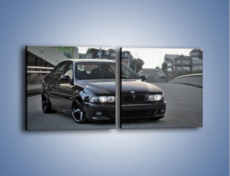 Obraz na płótnie – Czarne BMW E39 M5 – dwuczęściowy kwadratowy poziomy TM072