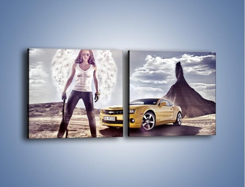 Obraz na płótnie – Chevrolet Camaro – dwuczęściowy kwadratowy poziomy TM079