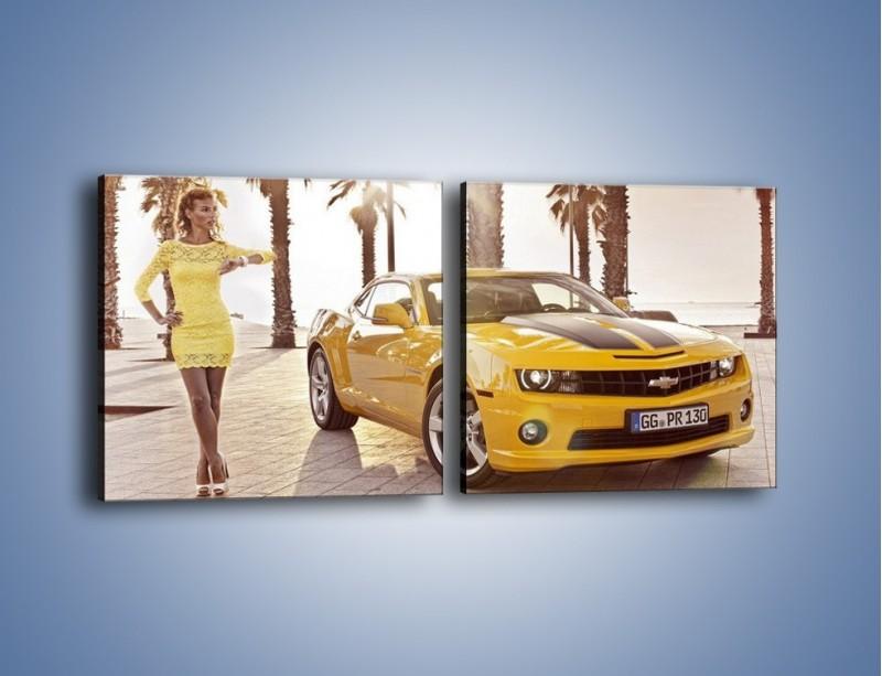 Obraz na płótnie – Chevrolet Camaro Coupe Europe – dwuczęściowy kwadratowy poziomy TM083