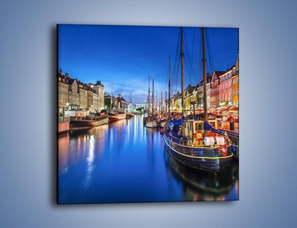 Obraz na płótnie – Kanał Nyhavn w Kopenhadze – jednoczęściowy kwadratowy AM716