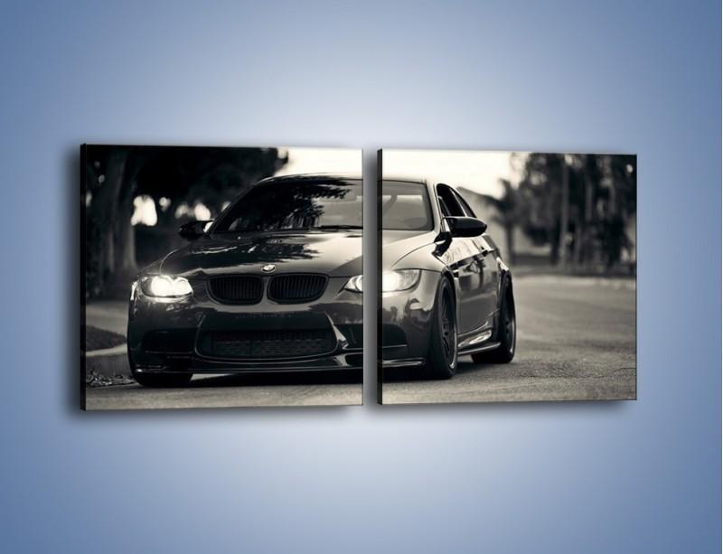 Obraz na płótnie – BMW M3 – dwuczęściowy kwadratowy poziomy TM092