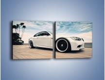 Obraz na płótnie – BMW M3 Strasse Forged Wheels – dwuczęściowy kwadratowy poziomy TM094