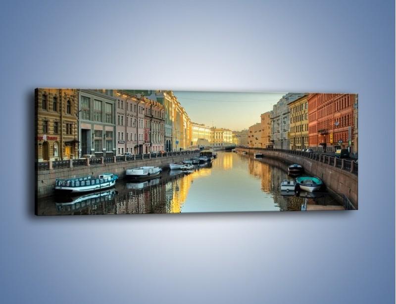 Obraz na płótnie – Kanał wodny w St. Petersburgu – jednoczęściowy panoramiczny AM422