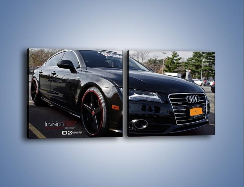 Obraz na płótnie – Audi A7 D2forged Wheels – dwuczęściowy kwadratowy poziomy TM099