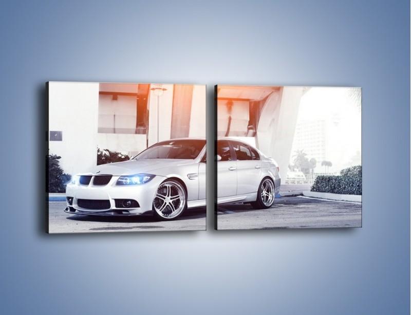 Obraz na płótnie – BMW 3 E90 – dwuczęściowy kwadratowy poziomy TM112