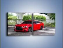 Obraz na płótnie – Dodge Charger SRT11 – dwuczęściowy kwadratowy poziomy TM113