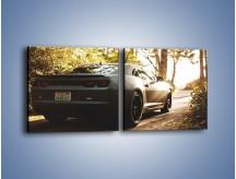 Obraz na płótnie – Chevrolet Camaro w matowym kolorze – dwuczęściowy kwadratowy poziomy TM132