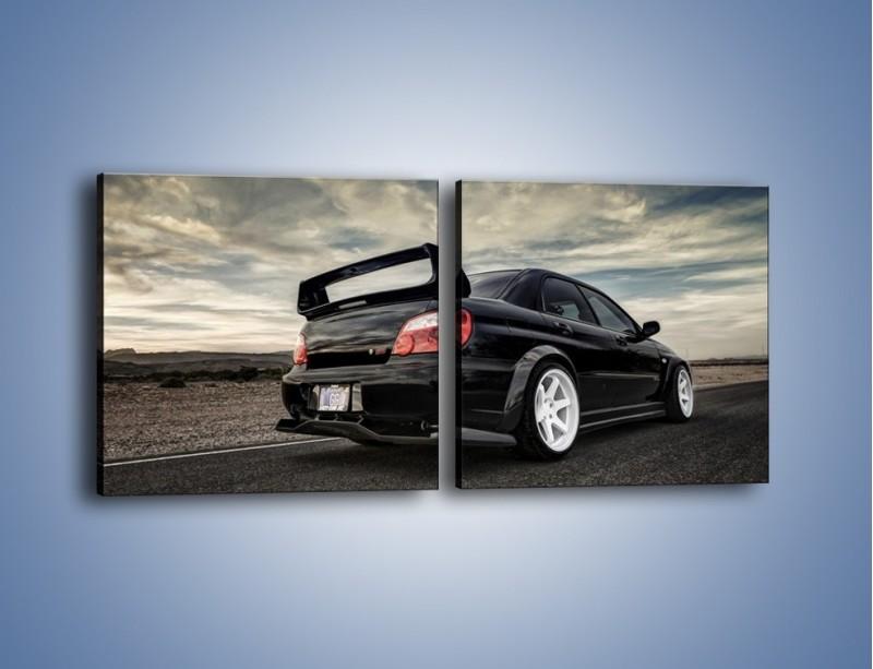 Obraz na płótnie – Czarne Subaru Impreza WRX Sti – dwuczęściowy kwadratowy poziomy TM133