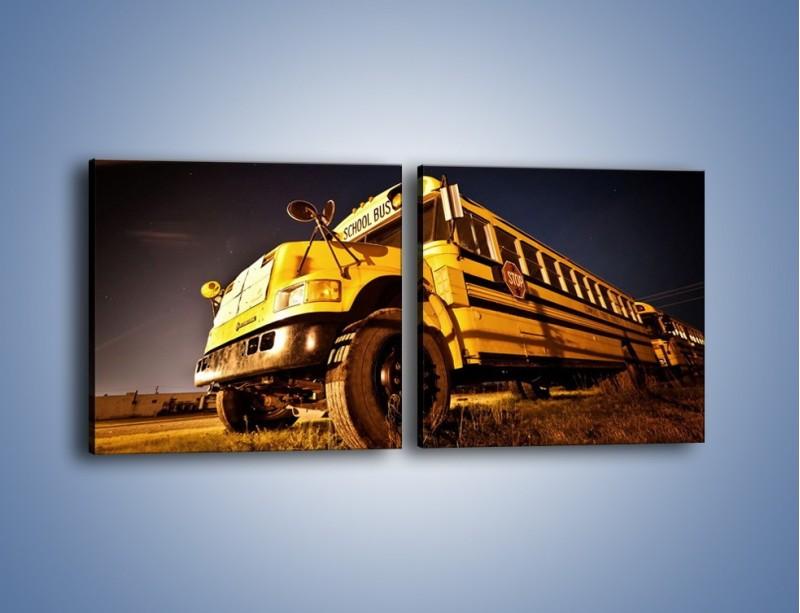 Obraz na płótnie – Amerykański School Bus – dwuczęściowy kwadratowy poziomy TM146