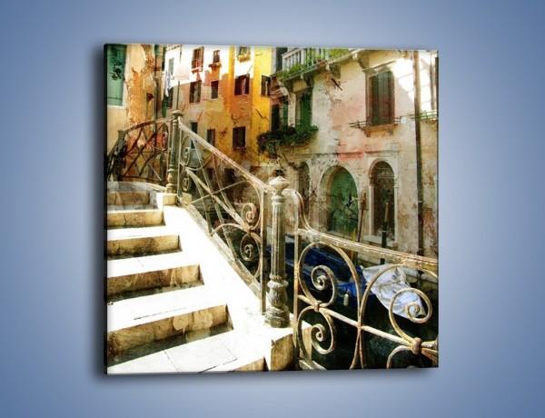 Obraz na płótnie – Wenecka architektura w stylu vintage – jednoczęściowy kwadratowy AM718