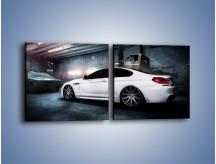 Obraz na płótnie – BMW M6 F13 w garażu – dwuczęściowy kwadratowy poziomy TM165
