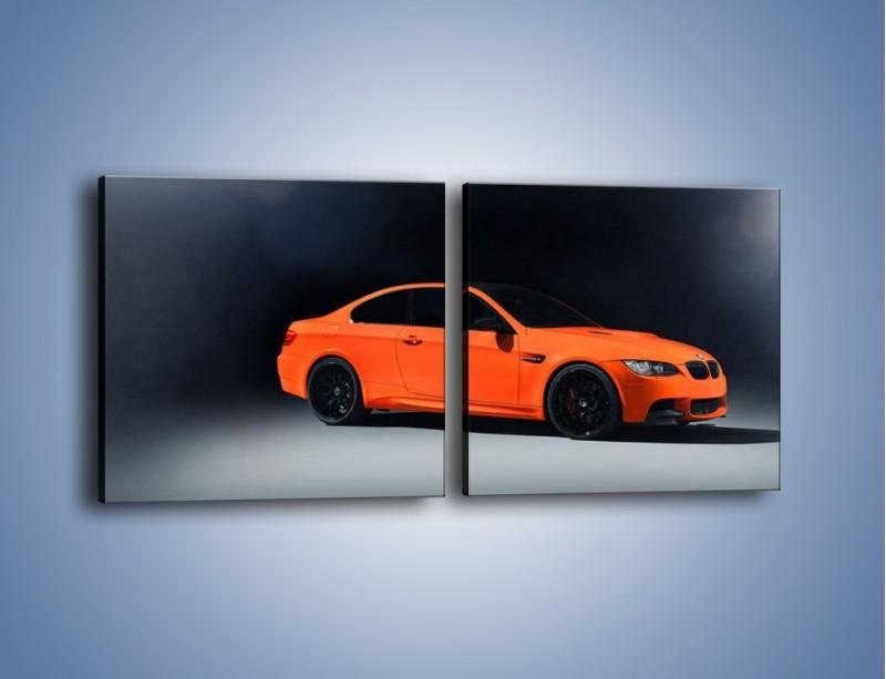 Obraz na płótnie – BMW M3 E92 Coupe Orange – dwuczęściowy kwadratowy poziomy TM168