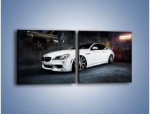 Obraz na płótnie – BMW M6 F13 Vossen Wheels – dwuczęściowy kwadratowy poziomy TM169