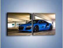 Obraz na płótnie – Audi R8 – dwuczęściowy kwadratowy poziomy TM180