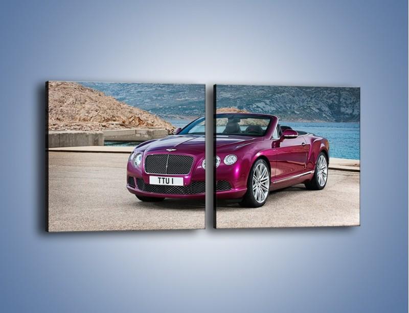 Obraz na płótnie – Bentley Continental Speed GT – dwuczęściowy kwadratowy poziomy TM187