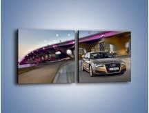 Obraz na płótnie – Audi A8 – dwuczęściowy kwadratowy poziomy TM188