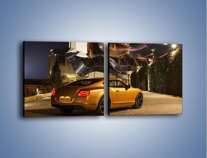 Obraz na płótnie – Bentley Continental GT V8 – dwuczęściowy kwadratowy poziomy TM190