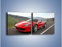 Obraz na płótnie – Czerwone Ferrari 458 Italia – dwuczęściowy kwadratowy poziomy TM194