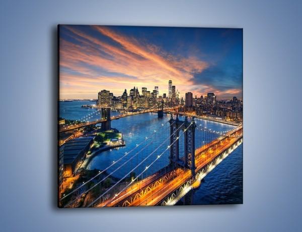 Obraz na płótnie – Nowojorskie mosty – jednoczęściowy kwadratowy AM719