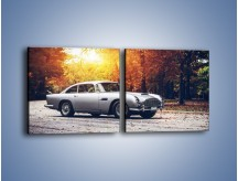 Obraz na płótnie – Aston Martin DB5 – dwuczęściowy kwadratowy poziomy TM208